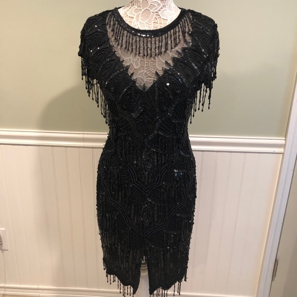 Laurence Kazar Dresses & Skirts - Vintage Laurence Kazar Beaded Silk Cocktail Dress